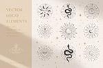 神秘太阳标志设计