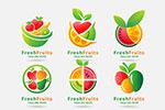多彩水果图案标志