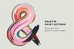 颜料艺术装饰字体