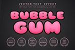 泡泡糖风格字体样式