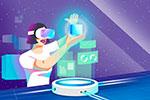 炫彩VR虚拟科技插画