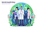 世界卫生日插画