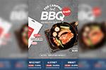 BBQ烧烤美食广告海报