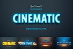 电影标题立体字图层样式