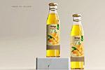 汽水玻璃瓶标签样机