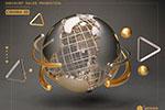 金属地球C4D模型