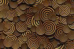 金色黑色圆环抽象几何背景