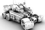 武装坦克3D模型