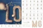 3D饼干字母