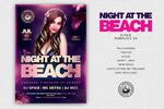 海滩聚会主题海报