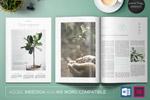植物介绍杂志模板