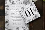 植物婚礼邀请函