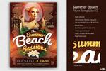 夏天海滩活动海报