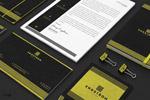 黑黄色企业VI模板