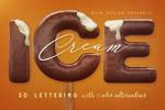 巧克力3D字体
