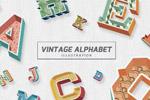 复古字母主题插图
