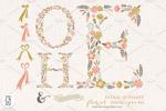 花卉字母图形