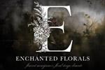 魔法花卉装饰字母