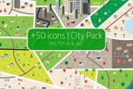 扁平城市图标