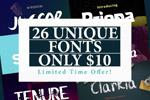26款独特英文字体