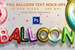 气球字体样式