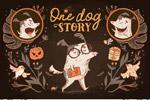 狗的故事插画