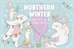 冬季可爱小动物