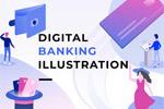 数字银行场景插图