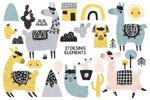 羊驼骆驼卡通背景