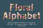 华丽的花卉字母