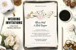 花卉装饰婚礼邀请函