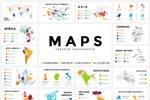 地图图形幻灯片