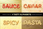 食物英文字体