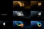 粒子徽标视频模板