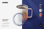 不锈钢咖啡杯样机