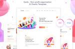慈善机构网页模板
