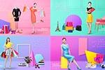 彩色购物促销海报