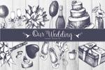 矢量素描婚礼元素