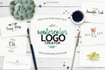 水彩风格Logo