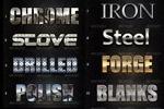金属字体图层样式