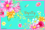 手绘五彩浆果花卉