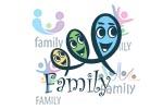 人形家庭概念标志