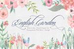 英式花园水彩花卉