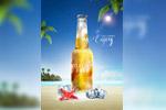 夏季沙滩啤酒广告