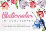 唯美手绘水彩花卉
