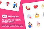 爱主题UI图标