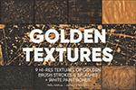 金色油漆喷溅纹理