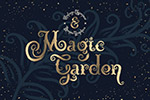 魔法花园插图装饰字体
