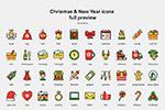 圣诞新年图标集