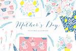 母亲节印花和图案